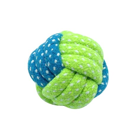 - Cotton Rope Pet Chew Toys Dog Tooth Bite Cleaning Ball Puppy Cat Training Interactive Toy