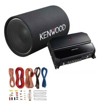 "Kenwood P-W130TB 12"" 1200W Bass Tube Subwoofer + 2-Channel Amplifier + Amp Kit"