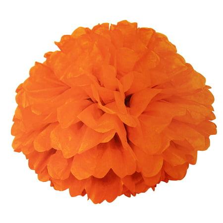 Tissue Paper Pom Pom, 16 in, Orange, 1ct (Orange Cheerleader Pom Poms)