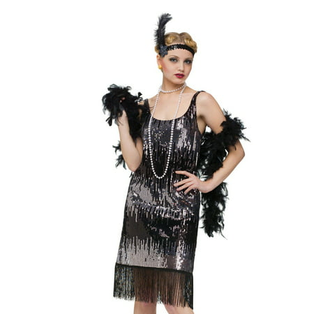 Jazz Baby 1920'S Flapper The Great Gatsby Womens Fancy Halloween Costume (Halloween 1920)