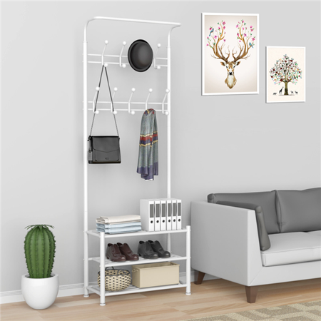 Umbrella Hat In Stores (Yaheetech Clothes Coat Stand, Shoes Rack Umbrella Stand, Entry Storage)