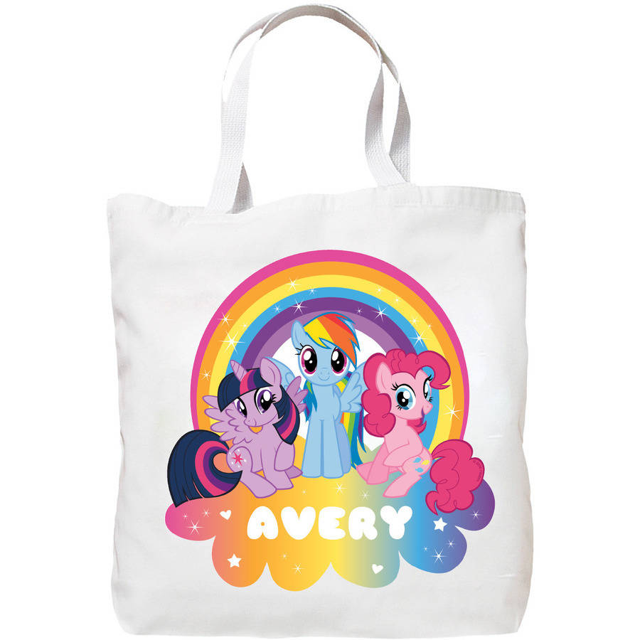 Personalized My Little Pony Rainbow Magic Tote Bag