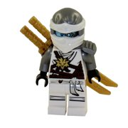 LEGO Minifigure - Ninjago - ZANE the White Ninja with Dual Gold Swords