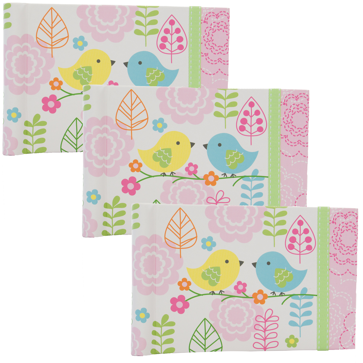 Nojo 3 Pack Baby Brag Book 4x6 Set With 24 Pages For Baby Book