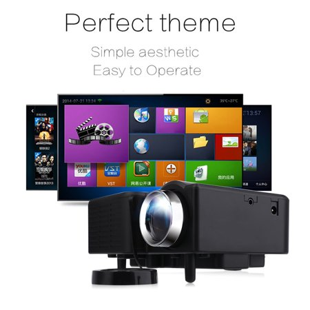 Portable Uc28 Multimedia Mini Home Theater Projector 1080 With Us Plug Av Vga Usb  Black