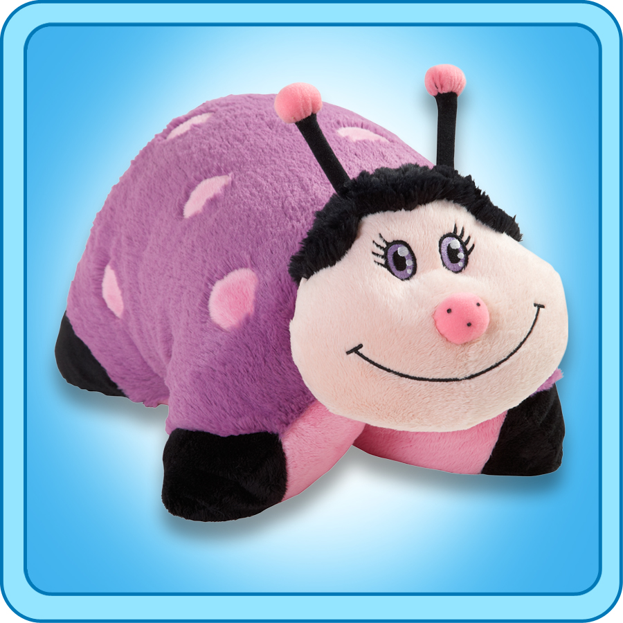 "Authentic Pillow Pets Lady Bug Purple Small 11"" Plush Toy Gift"