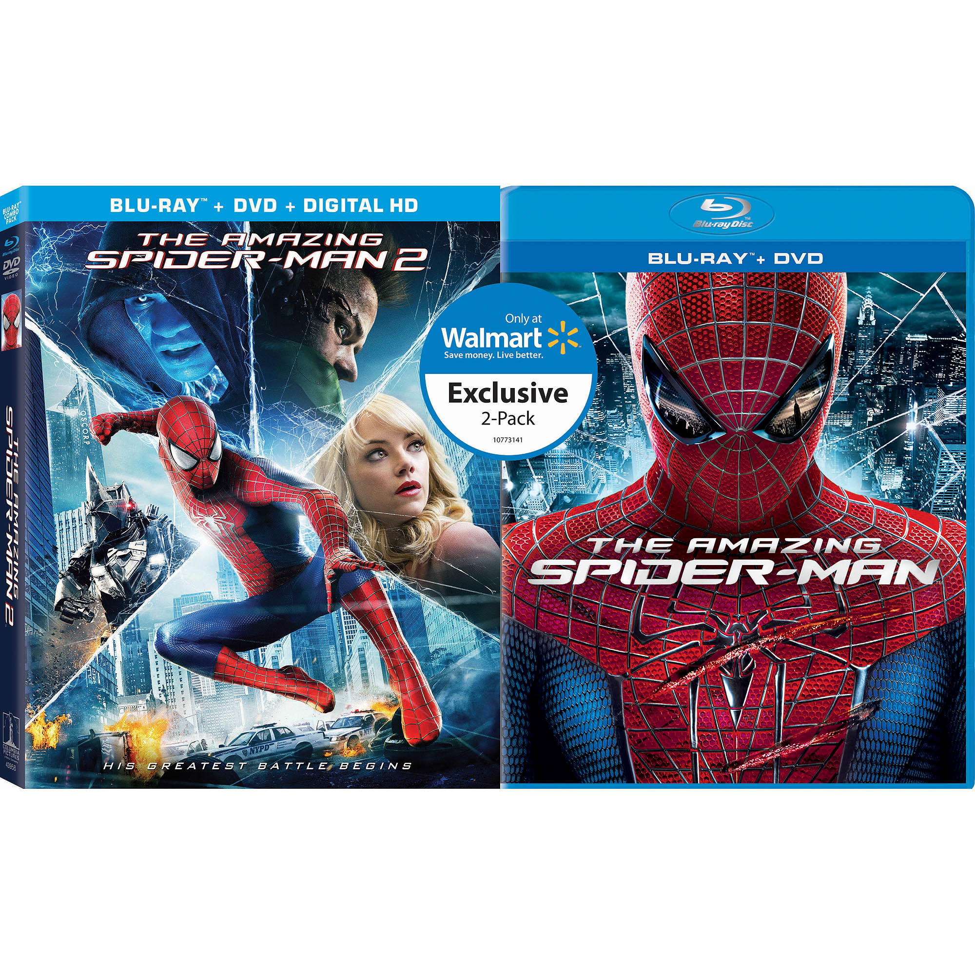 The Amazing Spider-man / The Amazing Spider-man 2 (Blu-ray + DVD + Digital HD) (Walmart Exclusive) (With INSTAWATCH) (Widescreen)