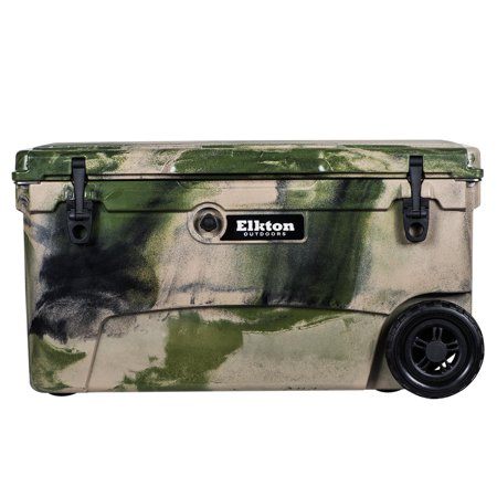 925a4106 Elkton Outdoors 70 Quart Rolling Ice Chest With Bear Resistant Lock Plates,  Bottle Opener, Easy Grab Handles & High Performance Commercial Grade ...