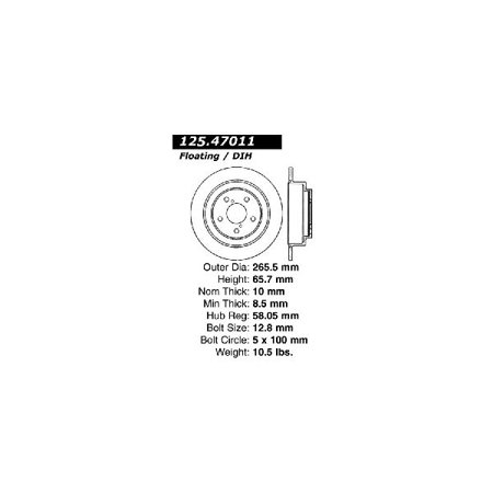 Go-Parts OE Replacement for 2005-2006 Saab 9-2X Rear Disc