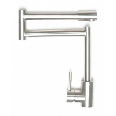 Zenvida Modern Deck Mount Dual Joint Kitchen Pot Filler Deck Mount Kitchen Tap