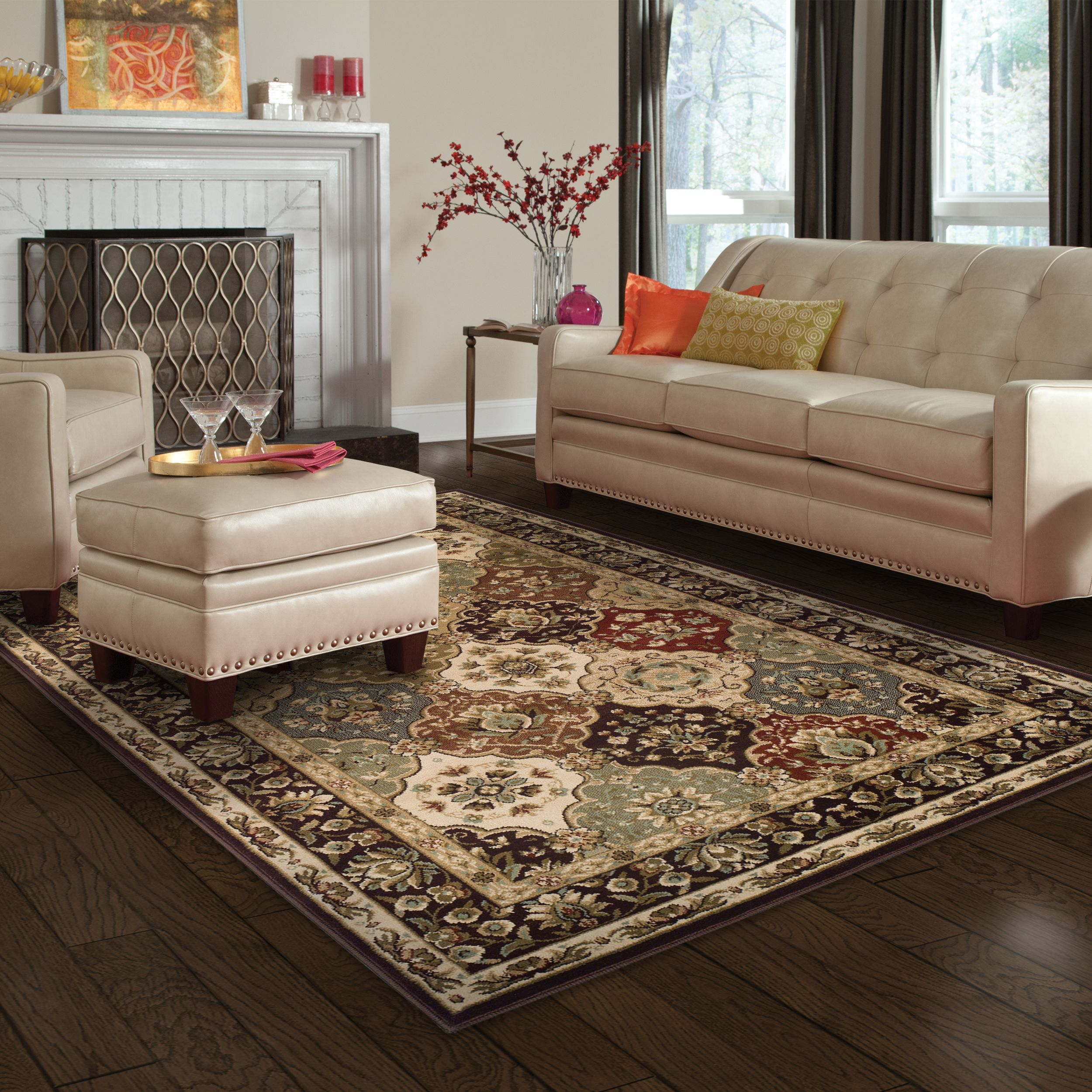 Superior Elegant Palmyra Collection with 10mm Pile and Jute Backing, Moisture Resistant and Anti-Static Indoor Area Rug
