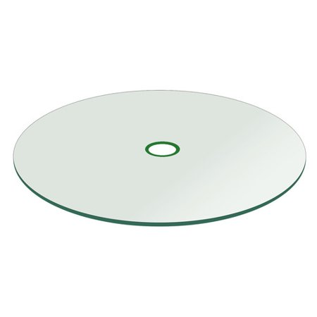 """- Patio Glass Table Top, 42"""" Round 1/4"""