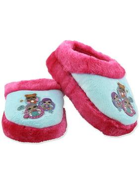0d94a957c359 Girls Slip On Plush Scuff Slippers LOL Surprise SGF1036ALP