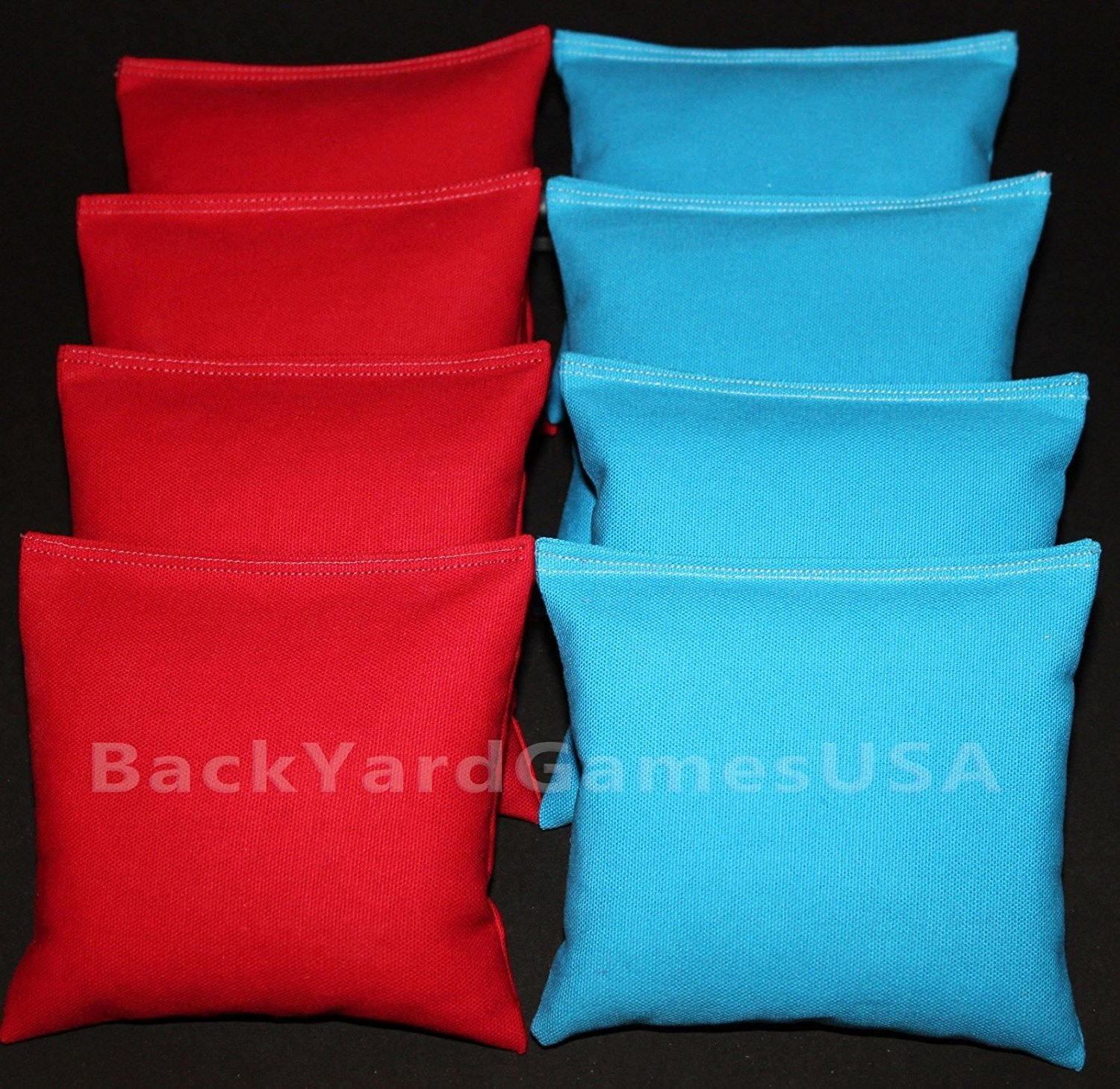Cornhole Bean Bags Red & Turquoise 8 Aca Corn Hole Game Toss Bags Marshall Herd, *Handmade Quality Craftsmanship (I Personally Make Each Bag).., By Unbranded*