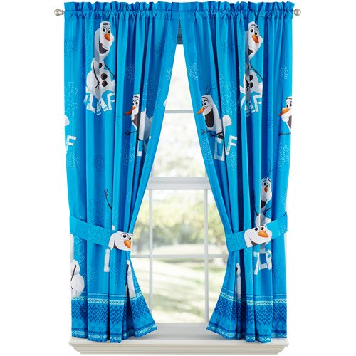 Disney Frozen Olaf Boys Bedroom Curtains, 2 Count