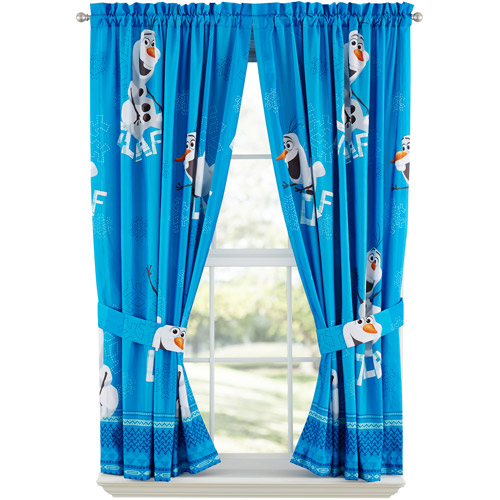 Disney's Frozen Olaf Boys Bedroom Curtains, Set of 2