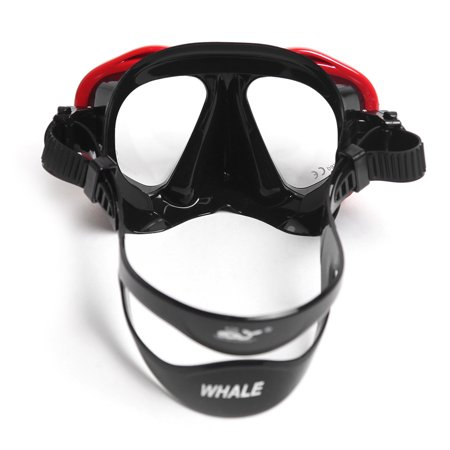 Men's Women's Anti-fog Diving Snorkeling Mask Two-window Diving Mask Swim Goggles Swimming Mask Tempered Glass Lens Flexible Silicone Skirt PC Frame Adults 1