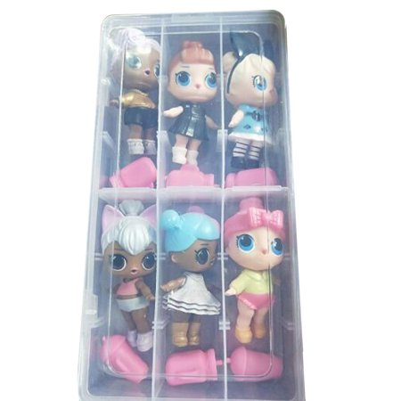 Random Cutest Little Toys Adorable Mini Dolls Surprised Dolls Case For Kids (Acrylic Doll Cases)