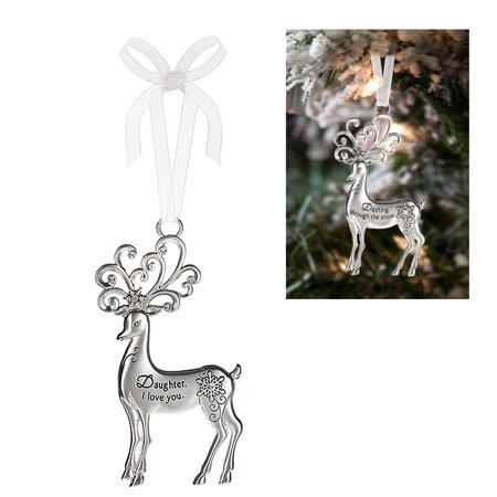 Prancing Reindeer Ornament: Daughter, I Love You - By Ganz