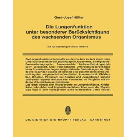 Die Lungenfunktion Unter Besonderer Berucksichtigung Des Wachsenden Organismus - image 1 of 1