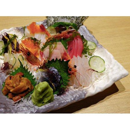 Framed Art for Your Wall Japanese Sashimi Seafood Salmon Fish Food 10x13 Frame Salmon Fish Wall