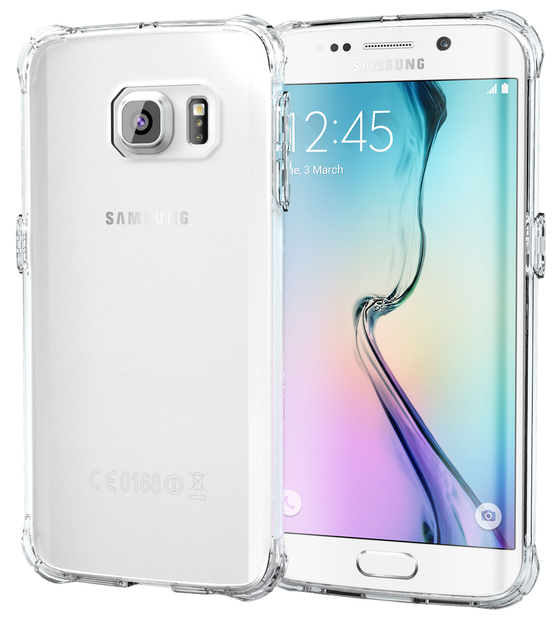 Galaxy S6 Edge Case - roocase [PLEXIS IMPAX] Clear Back Design [Slim-Fit] Protective Hybrid PC / TPU Case Cover for Samsung Galaxy S6 Edge (2015), Clear