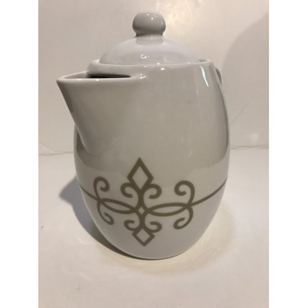 STARBUCKS PITCHER TEA POT CARAFE COFFEE WHITE 30.4 OZ