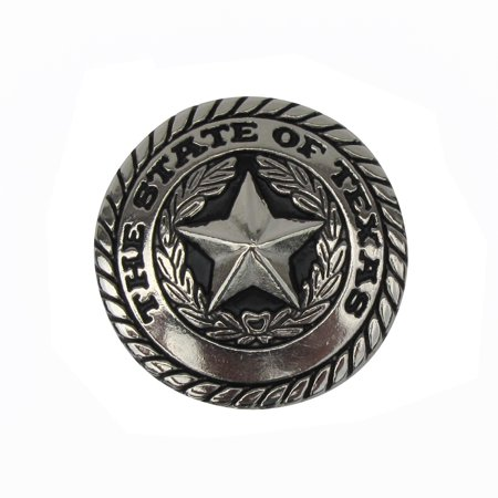 Silver Texas State Seal and TX Star Western Decor Concho