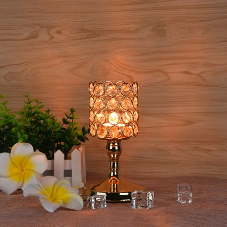 Tuscom Modern Crystal Lantern Candle Cup Holders For Valentines Day Dining Room 8Inch ()