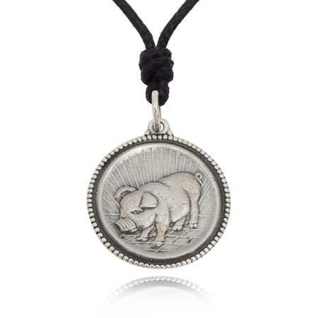 Pig 92.5 Sterling Silver Charm Necklace Pendant Jewelry With Cotton