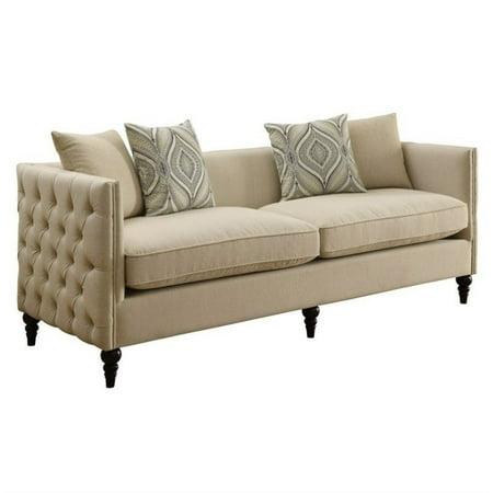 Coaster company claxton sofa oatmeal for Coaster co of america furniture