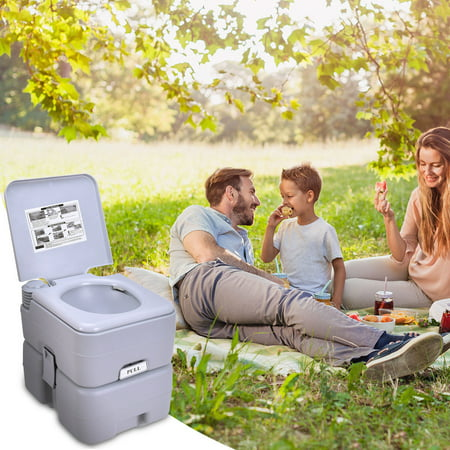 Gymax Outdoor Camping Hiking Portable Toilet Flush Potty - image 8 of 10