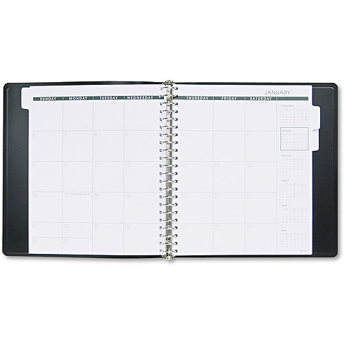 AT-A-GLANCE Refillable Multi-Year Monthly Planner, 9 x 11, White, 2017-2019