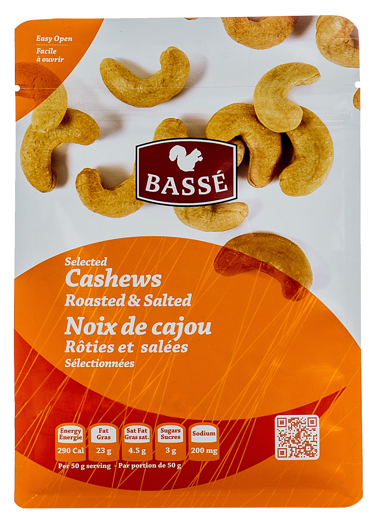 Basse Selected Cashews, Roasted & Salted (7oz.) Salted Cashews Boasted Toasted Posted &... by Basse Nuts