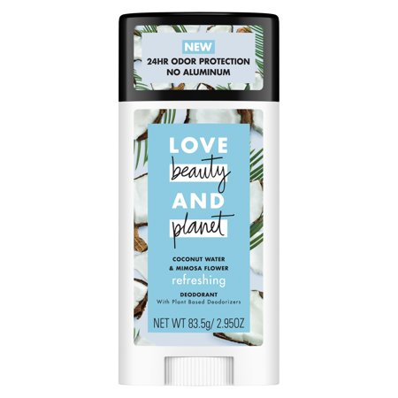 Love Beauty and Planet Coconut Water and Mimosa Flower Deodorant, 2.95 oz (Water Soluble Deodorant)