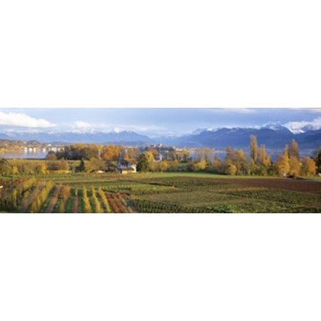Farm Rapperswil Zurich Switzerland Canvas Art - Panoramic Images (18 x 6)