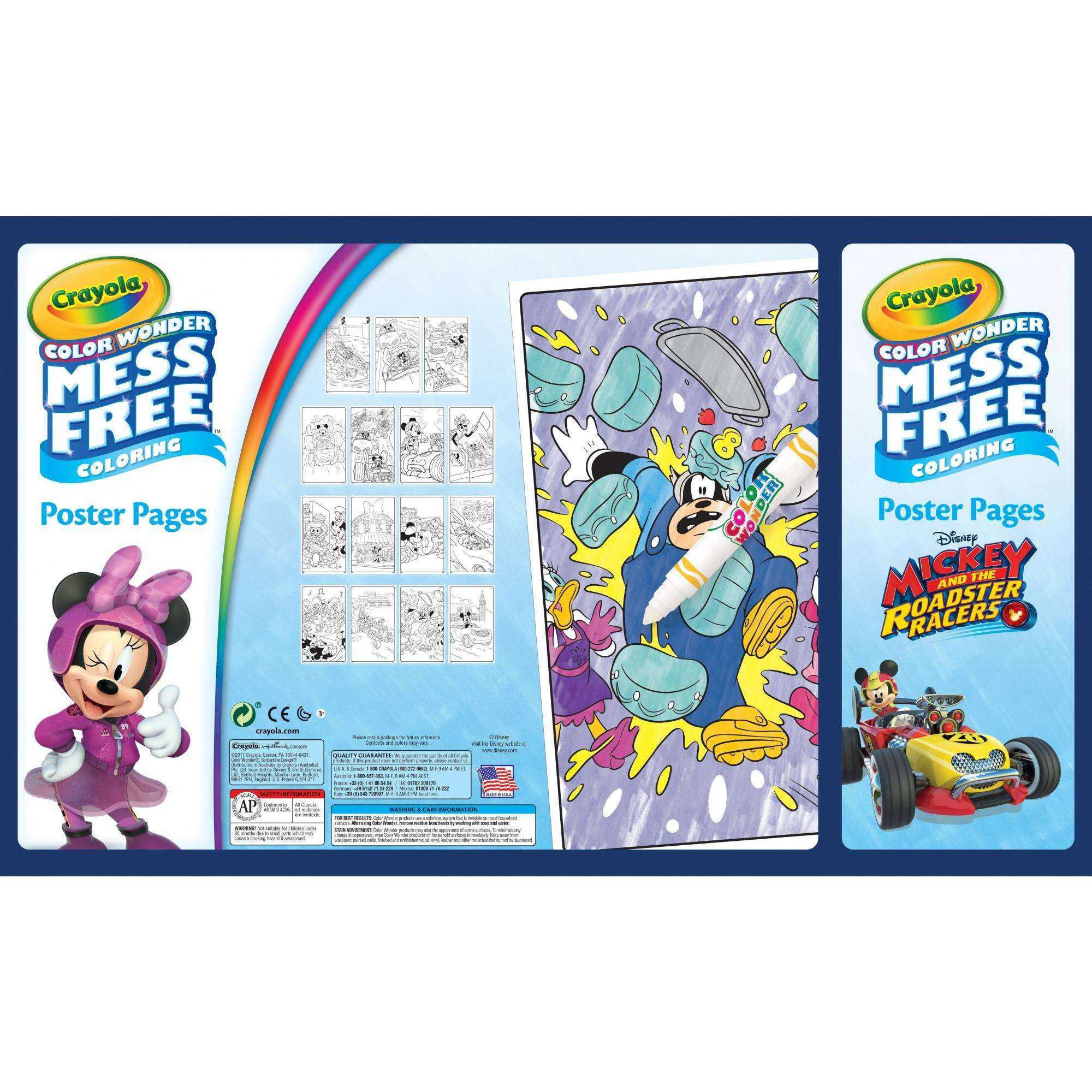 Crayola Mess-Free Color Wonder; Variety Bundle; Posters, Coloring ...
