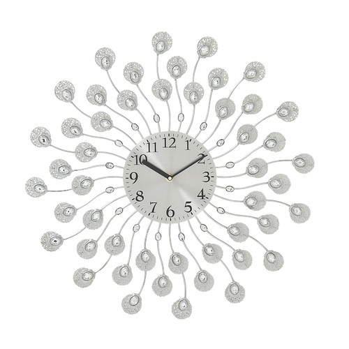 Decmode Metal and Acrylic Wall Clock, Multi Color