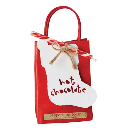 Peppermint Fudge Hot Chocolate Mix Gift Bag](Peppermint Fudge Recipe)