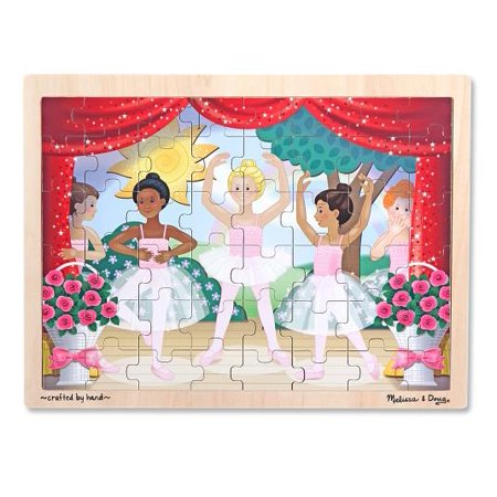 Melissa & Doug Ballet Recital Wooden Jigsaw Puzzle With Storage Tray (48 - Ballet Class Puzzle
