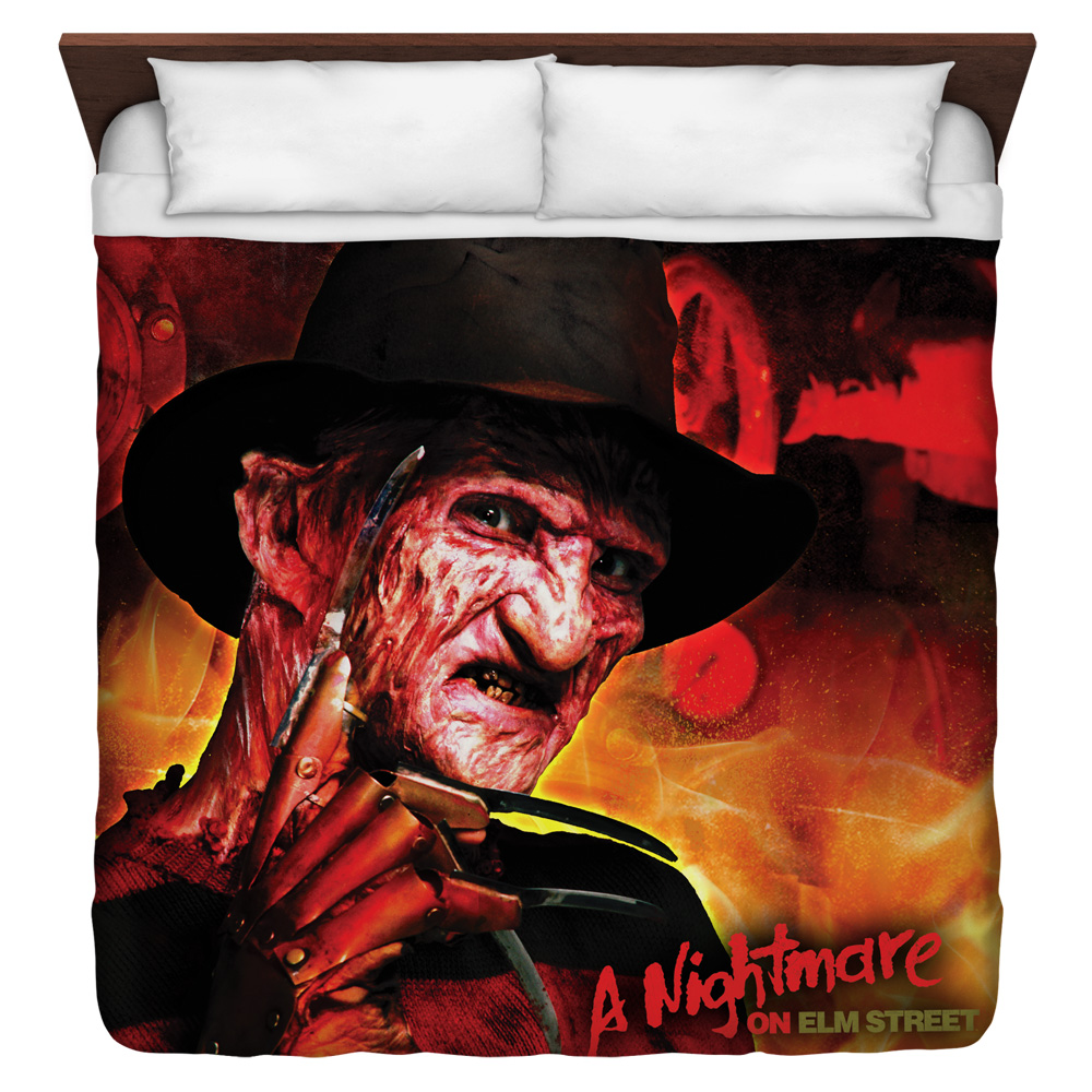 Nightmare On Elm Street Freddy'S Boiler Room King Duvet Cover White 104X88