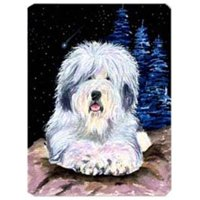 Starry Night Old English Sheepdog Mouse Pad