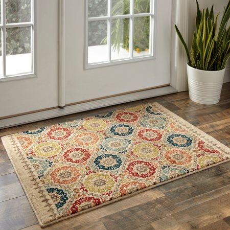 Mohawk Home Lifeguard Floral Medallion Accent Rug