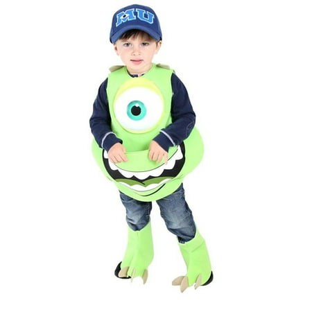 Monsters University Mike Wazowski Candy Catcher Costume with Hat - Mike Patton Halloween