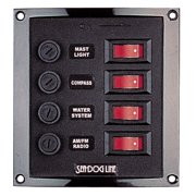 Sea Dog Vertical 4 Gang Rocker Switch Panel