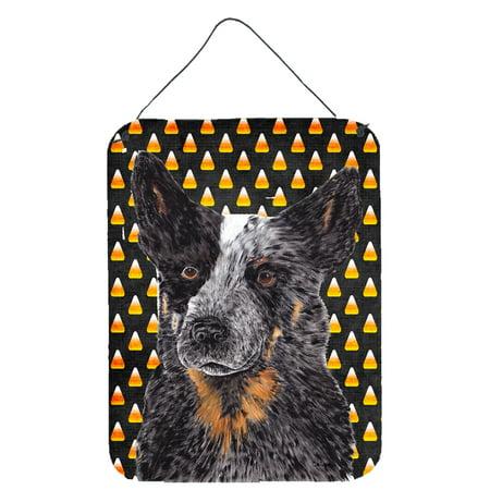 Australian Cattle Dog Candy Corn Halloween Portrait Wall or Door Hanging Prints (Halloween Is Un Australian)