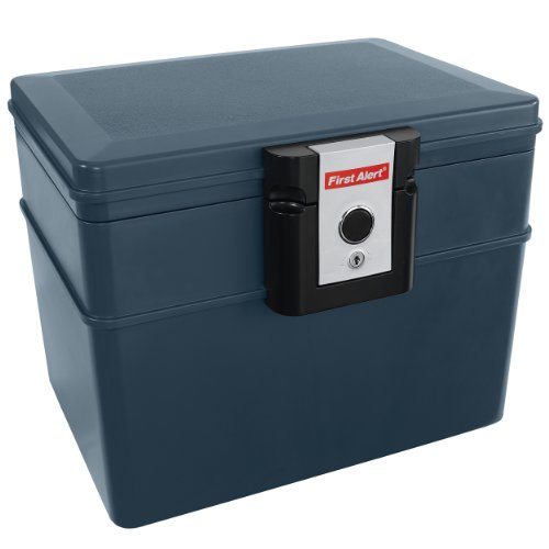 First Alert FAT2037FM First Alert 2037F Fire and Water File Chest 0.62 Cubic Foot Gray