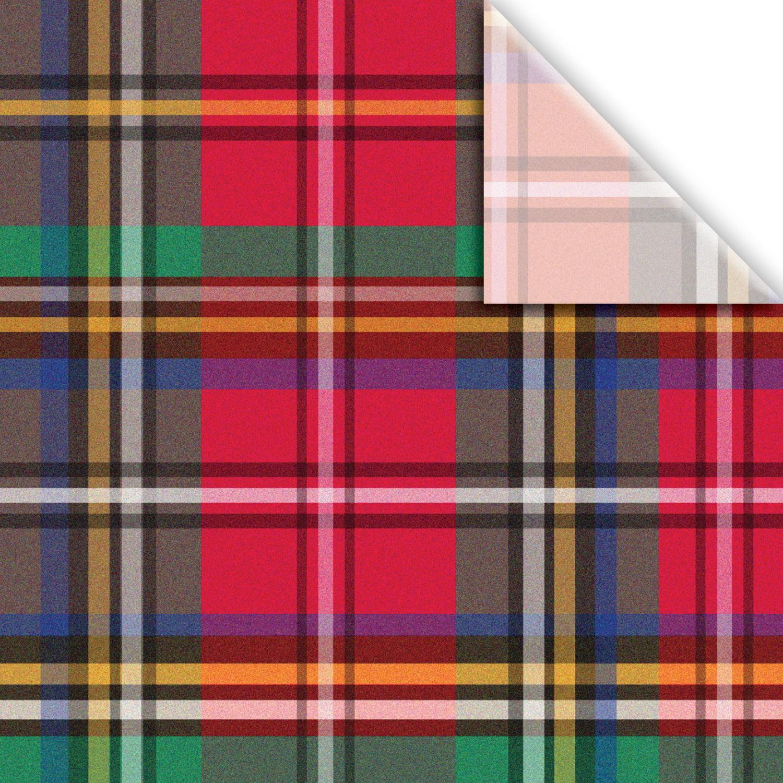"Jillson & Roberts Printed Gift Tissue 20"" x 30"", Tartan (240 Sheets)"