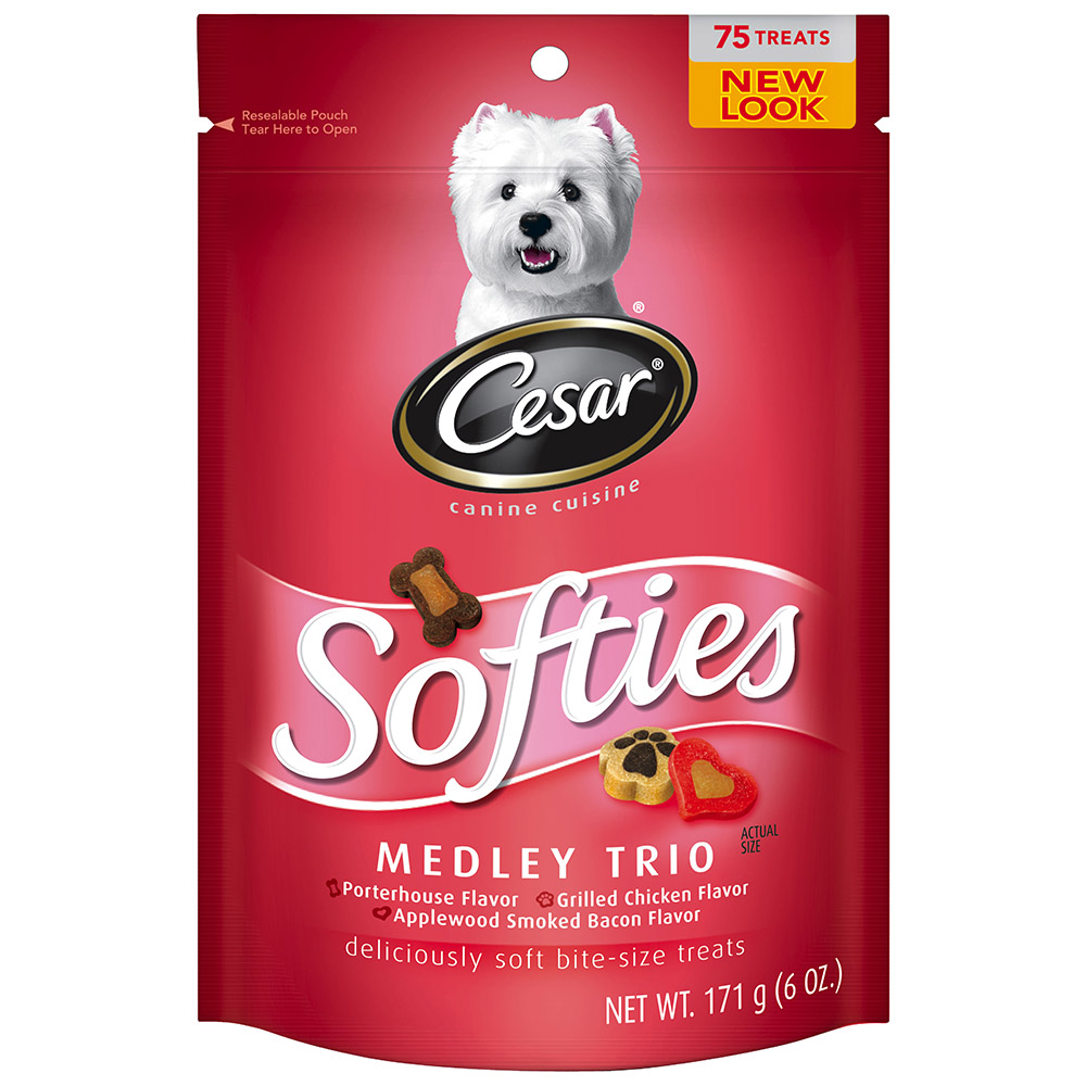 CESAR SOFTIES Medley Trio Dog Treats - 6.7 oz. 75 Treats