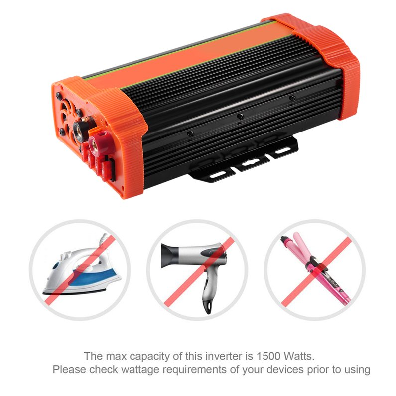 Hot P1500C 1500W High Power Car Power Inverter DC12V to